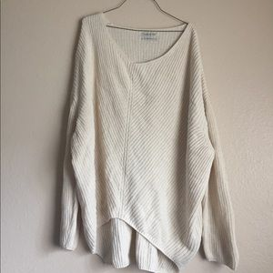 Comfy Over-sized Cream Sweater from OU